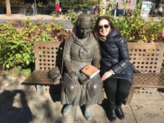 María José Ruiz con Elena Martín Vivaldi (Granada)