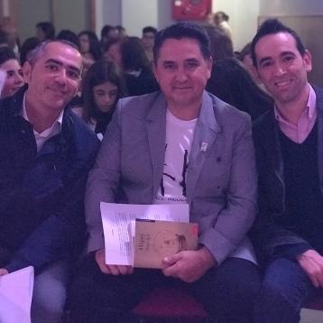 Con Tomás Cobo y Miguel Ángel Hita